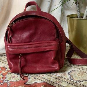 EUC Madewell Lorimer Mini Backpack | Dark Cabernet